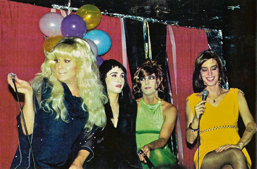 PYRAMID CLUB, EARLY 1990s - Lady Bunny, Misstress Formika, Tabboo! and Linda Simpson