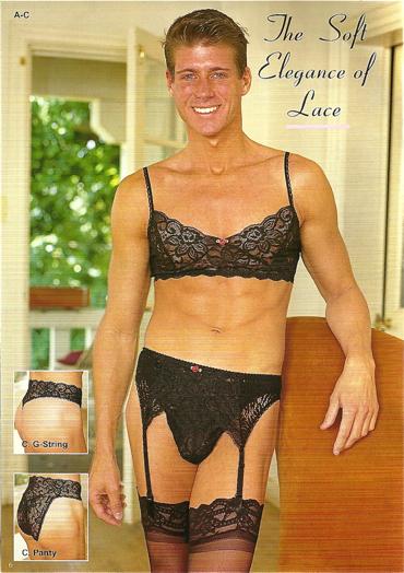 Lingerie male model