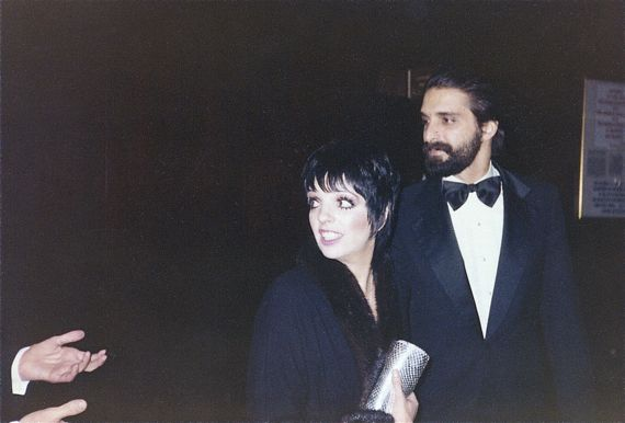 "Liza Minnelli and Mark Garo at after-party for the TV special, ""Night of 100 Stars.""  1982"