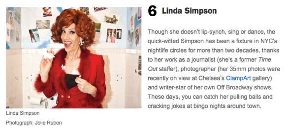 Linda Simpson drag queen New York top ten