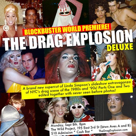 Drag Explosion Linda Simpson invite