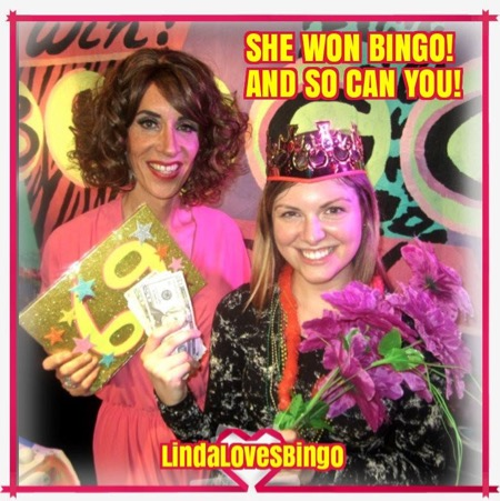 Linda and a very happy winner!