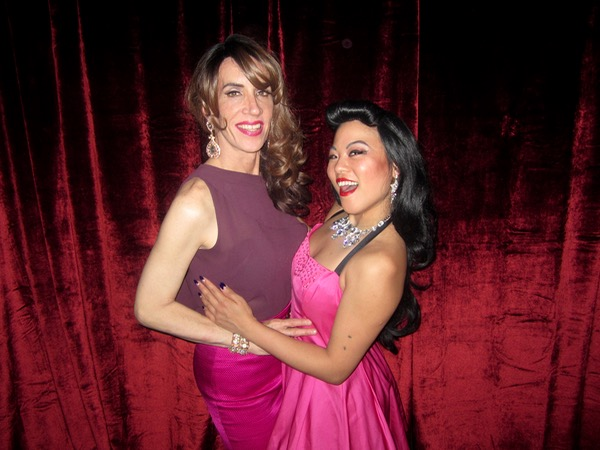Me and Minx Arcana, who had spokesmodeled at Bingo before performing at Lumos. I love a red velvet curtain!